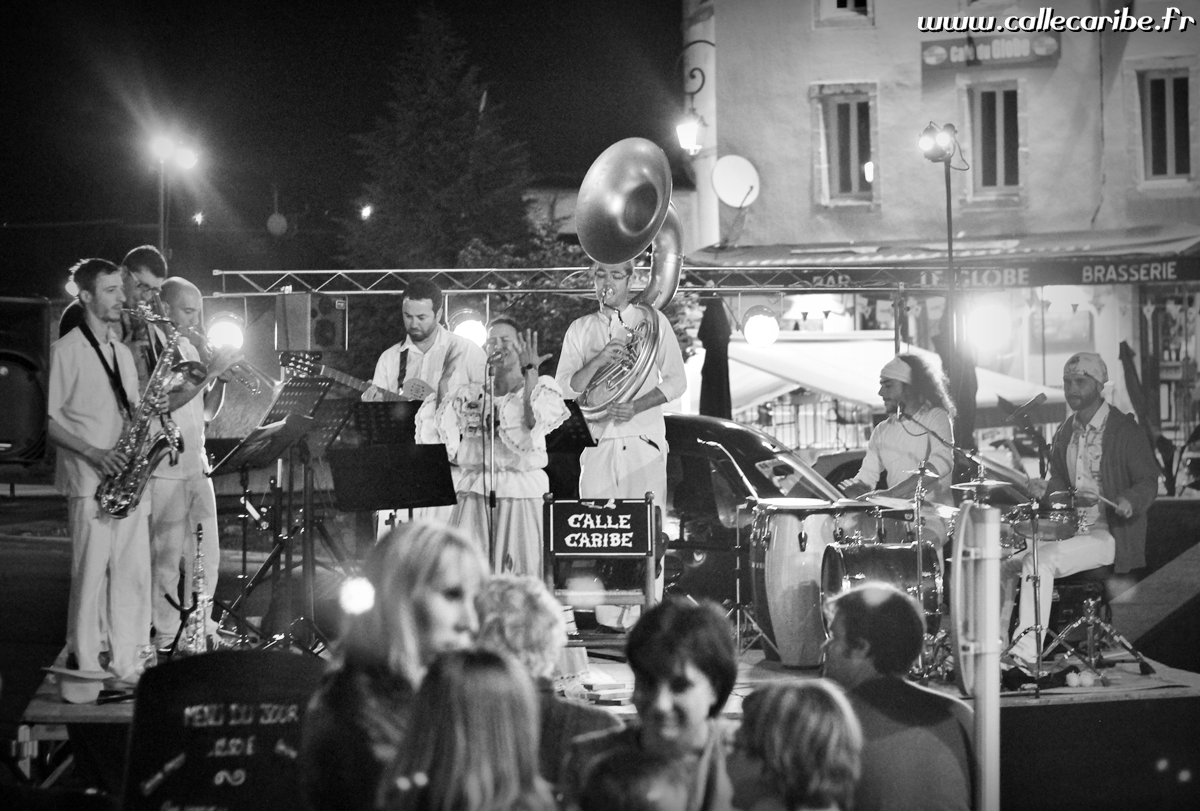 Concert de Calle Caribe à la Brasserie 13 (Lacaune, 81)